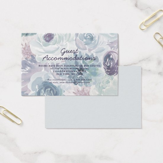 Annabelle Vintage Blue Accommodations Insert Card