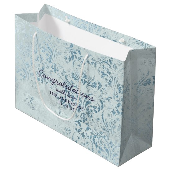 Annabelle Vintage Blue Congratulations Wedding Large Gift Bag