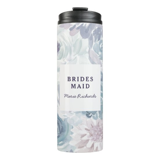 Annabelle Vintage Blue Floral Watercolor Wedding Thermal Tumbler