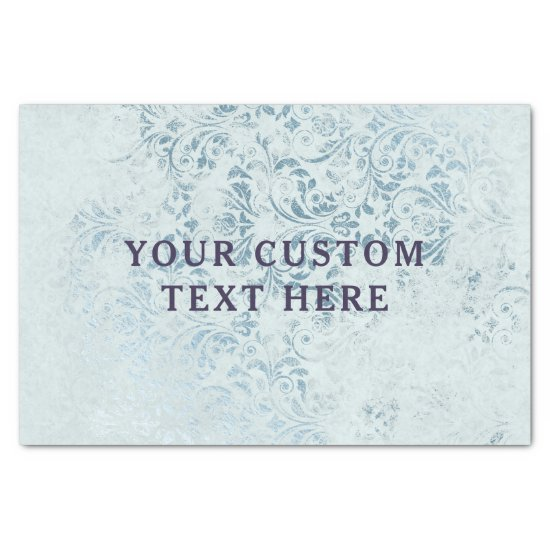 Annabelle Vintage Blue Floral Watercolor Wedding Tissue Paper