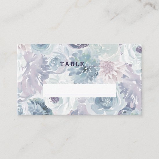 Annabelle Vintage Blue Floral Wedding Table Number Place Card
