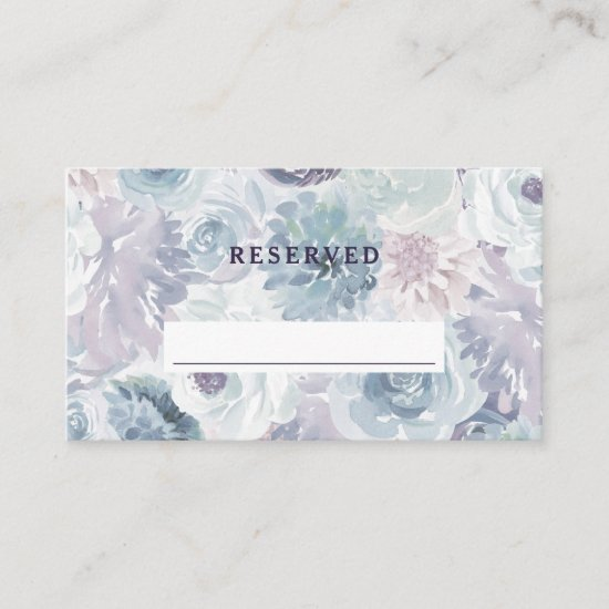 Annabelle Vintage Blue Reserved Seating Wedding Place Card