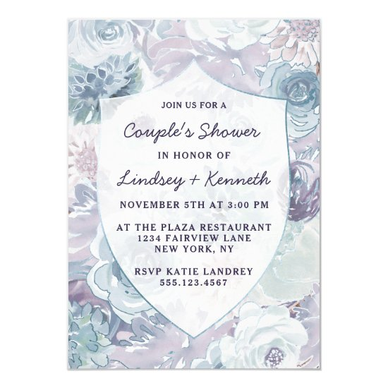 Annabelle Vintage Crest Couple's Wedding Shower Invitation