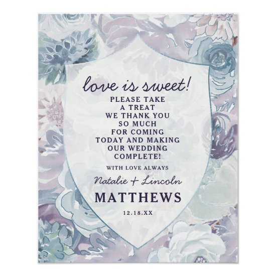 Annabelle Vintage Crest Love is Sweet Wedding Sign