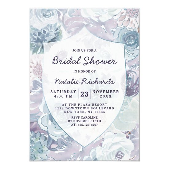 Annabelle Vintage Crest Wedding Bridal Shower Invitation