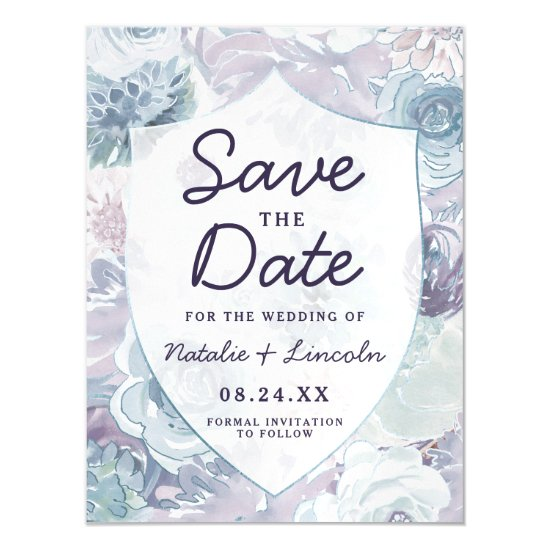 Annabelle Vintage Crest Wedding Save the Date Magnetic Invitation