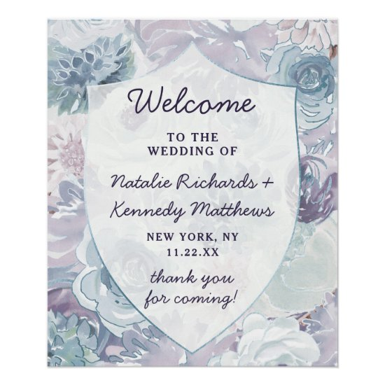 Annabelle Vintage Crest Wedding Welcome Sign
