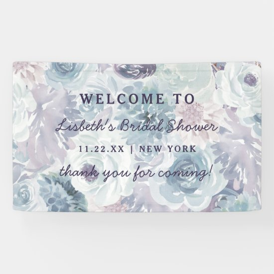 Annabelle Vintage Floral Bridal Shower Welcome Banner