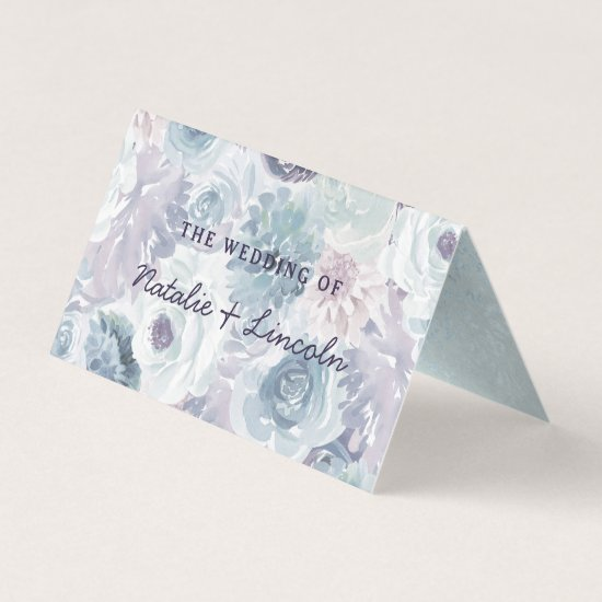 Annabelle Vintage Floral Reserved Seating Wedding Place Card