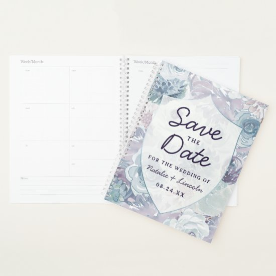 Annabelle Vintage Floral Save the Date Wedding Planner