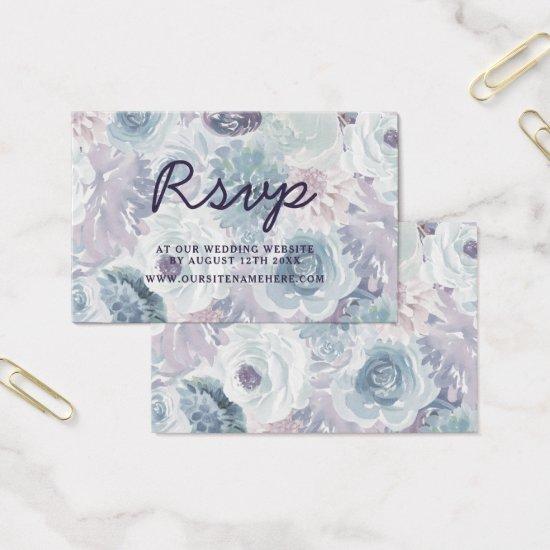 Annabelle Vintage Floral Website RSVP Insert Cards