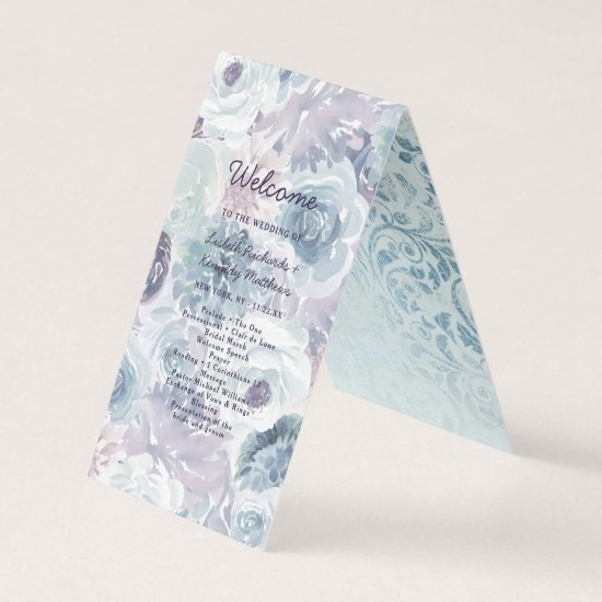 Annabelle Vintage Floral Wedding Ceremony Program