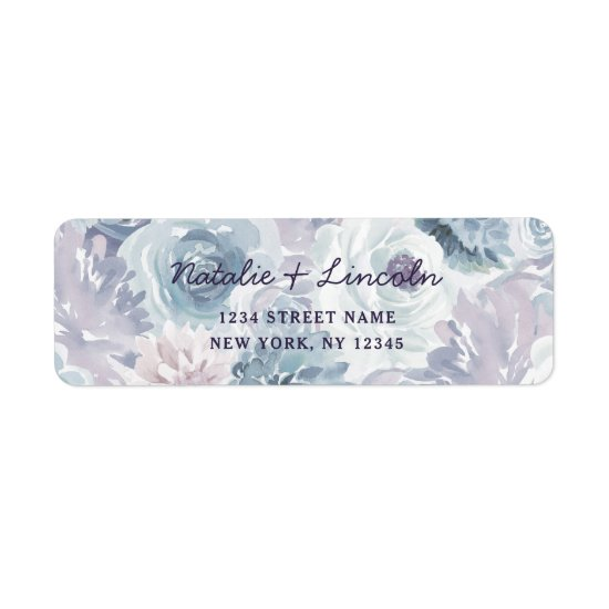 Annabelle Vintage Floral Wedding Return Address Label
