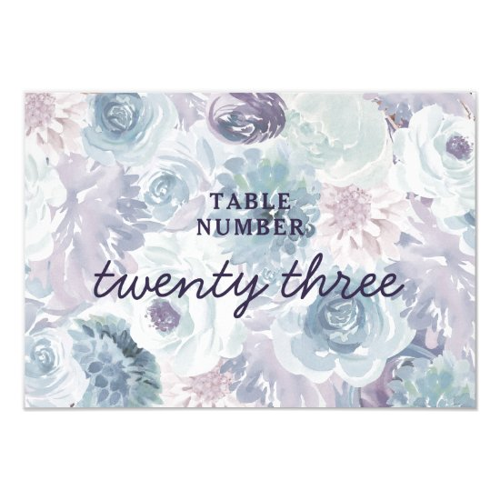 Annabelle Vintage Floral Wedding Table Numbers