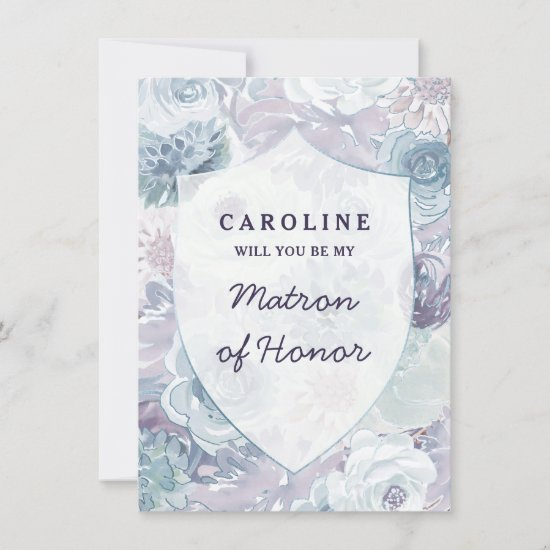 Annabelle Vintage Matron of Honor Proposal Card