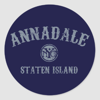 Annadale Round Sticker