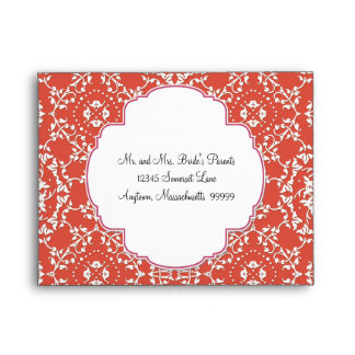 AnnaLiese Damask - Matching RSVP Envelopes