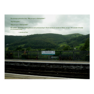 Annals of Fear Quote: Machynlleth Railway Station Postcard