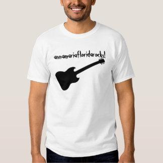 annamariafloridarocks! black guitar t shirt