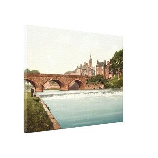 Annan Bridge, Dumfries and Galloway, Scotland Canvas Print