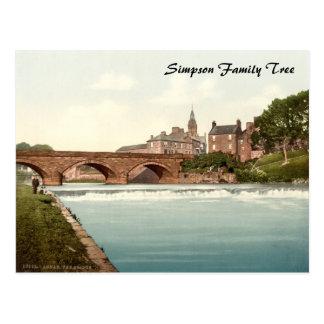 Annan Bridge, Dumfries and Galloway, Scotland Postcard