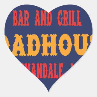 Annandale Roadhouse Heart Sticker