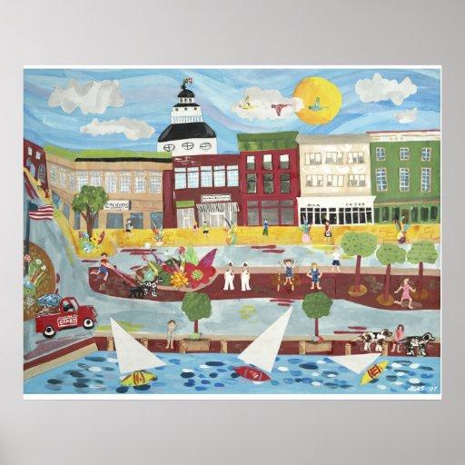 Annapolis céntrico en el verano póster