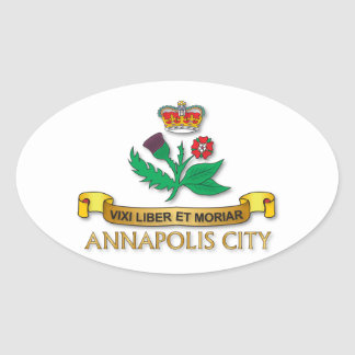 Annapolis City flag Oval Sticker