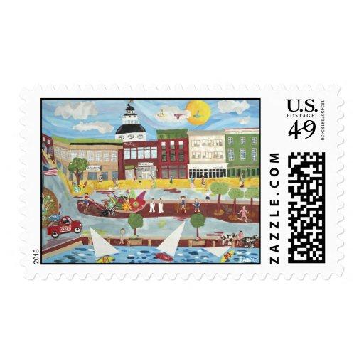 Annapolis en el verano sello