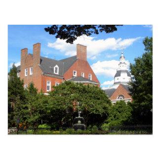 Annapolis garden postcard