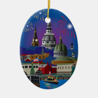 Annapolis Holiday Lights Parade Christmas Ornament