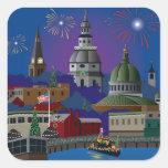Annapolis Holiday Square Sticker