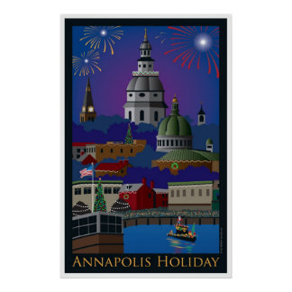 Annapolis Holiday with title Poster