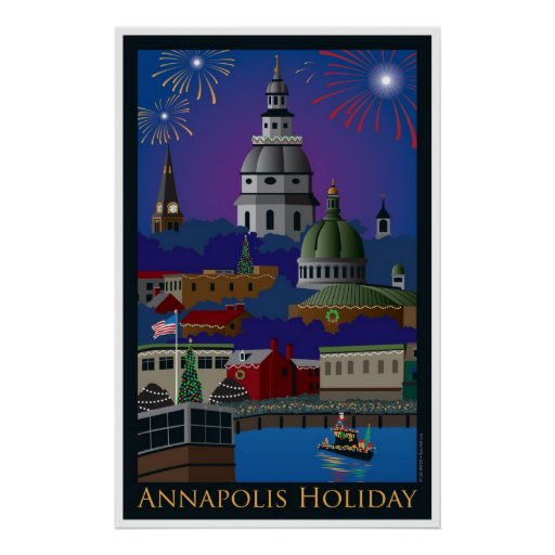 Annapolis Holiday with title Print