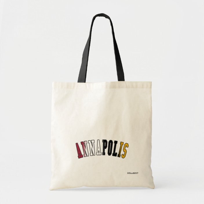 Annapolis in Maryland State Flag Colors Bag