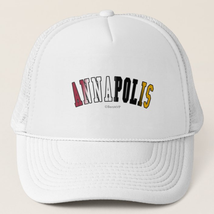 Annapolis in Maryland State Flag Colors Hat