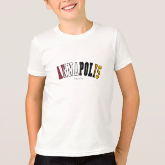 Annapolis in Maryland state flag colors T-Shirt