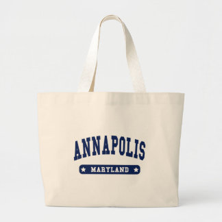 Annapolis Maryland College Style t shirts Large Tote Bag