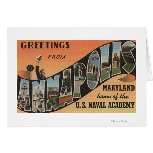 Annapolis, Maryland - Large Letter Scenes Card
