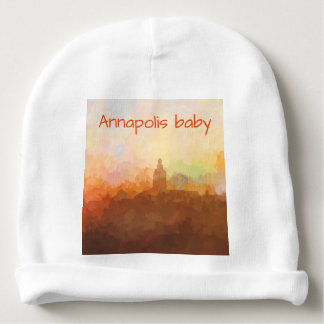 Annapolis Maryland Skyline IN CLOUDS Baby Beanie