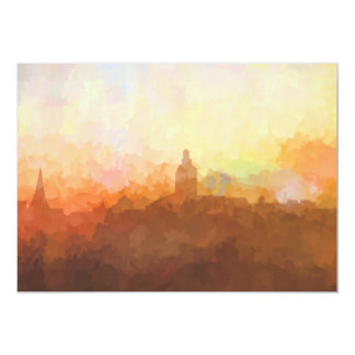 Annapolis Maryland Skyline IN CLOUDS Card