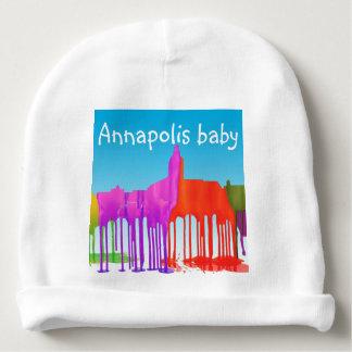 ANNAPOLIS MARYLAND SKYLINE PUDDLES - BABY BEANIE