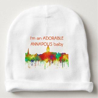 Annapolis Maryland Skyline-SG Baby Beanie