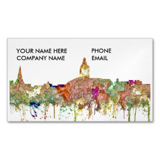 Annapolis Maryland Skyline SG-Faded Glory Magnetic Business Card