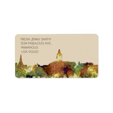 Professional Business Annapolis, Maryland Skyline SG - Safari Buff Label