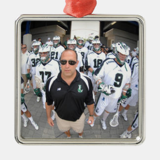 ANNAPOLIS,MD - AUGUST 22:  Head coach Jim Mule Metal Ornament