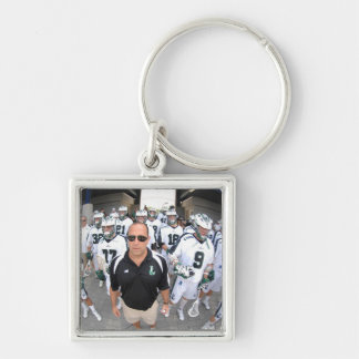 ANNAPOLIS,MD - AUGUST 22:  Head coach Jim Mule Silver-Colored Square Keychain