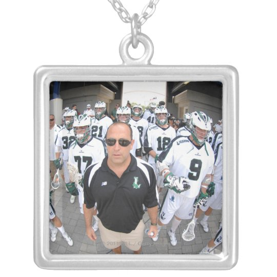 ANNAPOLIS,MD - AUGUST 22:  Head coach Jim Mule Silver Plated Necklace