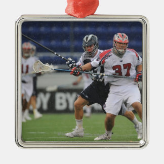 ANNAPOLIS, MD - AUGUST 27: Brian Farrell #37 Square Metal Christmas Ornament