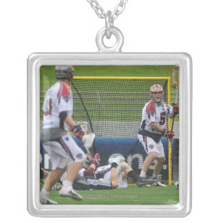 ANNAPOLIS, MD - AUGUST 27: Jordan Burke #5 Silver Plated Necklace